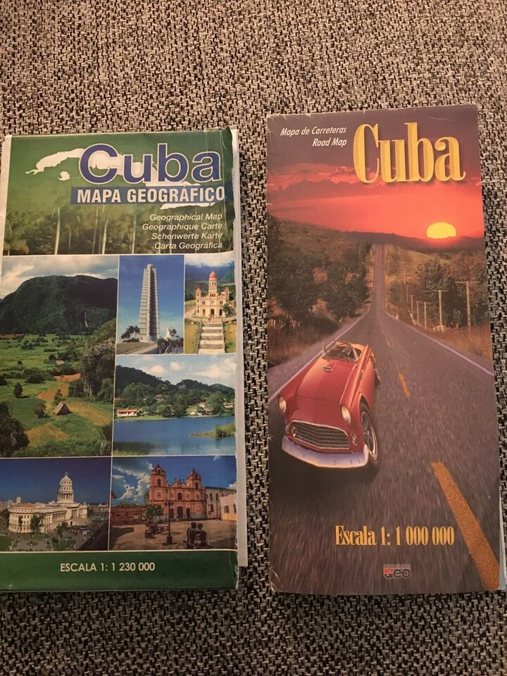 Kort over Cuba