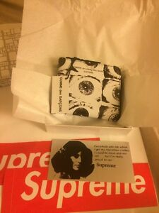 SUPREME x Comme des Garcons SHIRT Eyes Wallet White CDG SS17 limited In Hand