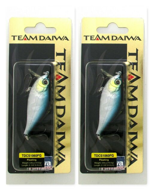 """Team Daiwa 2 3//8/"""" TD Floating 3//8 Oz Crankbaits Tdcs1060fg08 Black Shiner for sale online"""