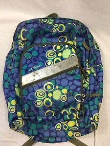 de82566877 LL Bean Deluxe Book Pack Backpack Dot Print School Bag Knapsack 4 ...