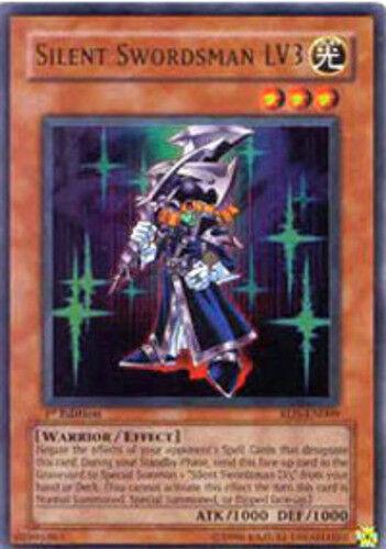 Yugioh Silent Swordsman LV3 RDS-EN009 1st Ultra Rare Heavily Played Fast Shippin