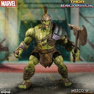 Mezco Toyz One: 12 Collectif Marvel Thor Ragnarok Gladiator Hulk 1/12 Figure 696198766301