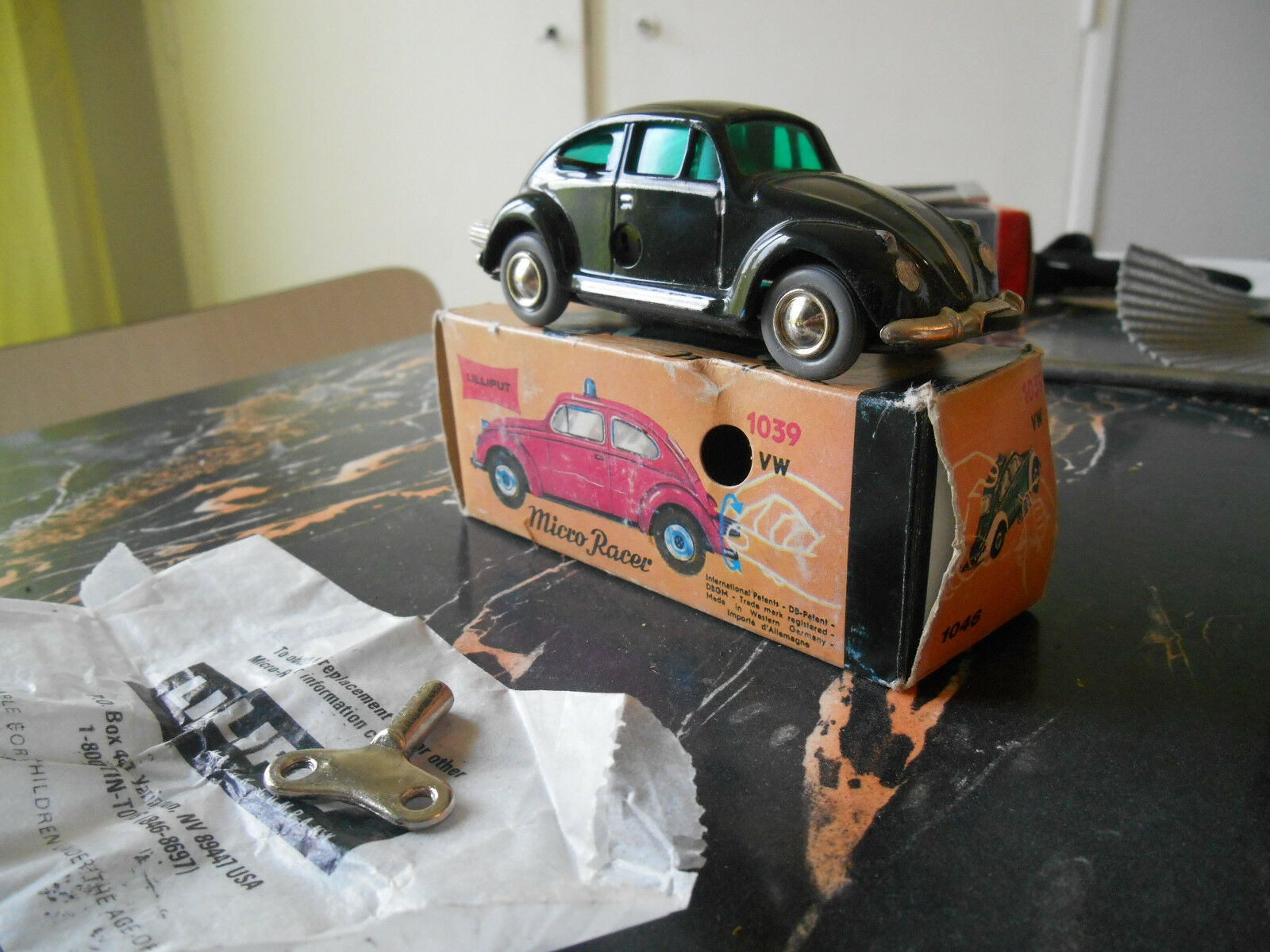 Schuco micro racer lilliput vw nib  neuf boite beetle volkswagen west germany