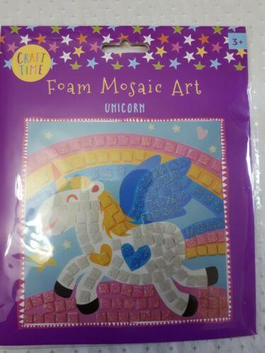 Arte mosaico de espuma para niños para niños-Unicornio-BNIP