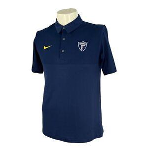 Nike Men's Short Sleeve Franklin College Navy Blue NWT Golf Polo Shirt Small