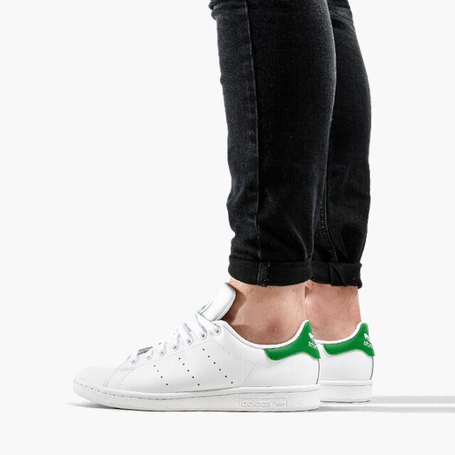 675b7c4bc22 adidas Originals Stan Smith White Green Men Classic Casual Shoes ...