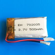 3.7V 500mAh Li Po Battery For MP3 DVD GPS Headphone Bluetooth Speaker PSP 702035