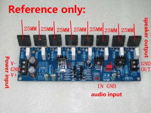 400W Dual Power Amplifier Board PCB Toshiba 2SC5200 2SA1943 Mono High Power AMP