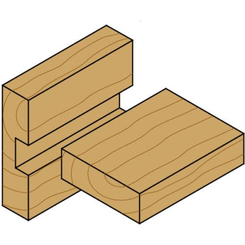 CMT VHM Nutfräser normale Ausführung Ø 3-8mm Schaft 8mm Vollhartmetall für Holz