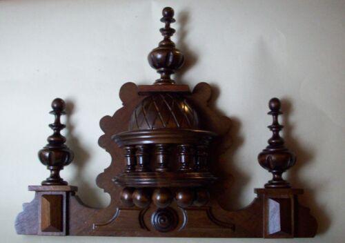 WOODEN CROWN TO THE CLOCK  BECKER VIENNA LENZKIRCH REGULATOR 38  cm KRONE
