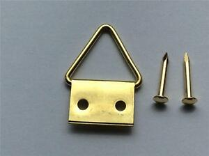 picture-frame-hooks-triangle-d-rings-hangers-frames-canvas-brassed-12MM-AND-PINS