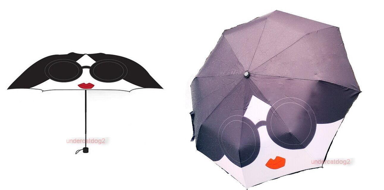 Alice & Olivia CON CARA DE STACEY BENDETO paraguas plegable de Taiwán (por Vogue)