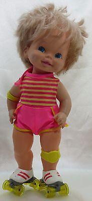 "Mattel Baby Skates Doll Wind Up Skating Doll 15"" #217 Year 1980 Original Outfit"