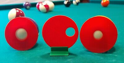 Practice Anywhere Pool Have An Inquiring Mind Aim And Stroke Training Discs Billiards Cue Sports