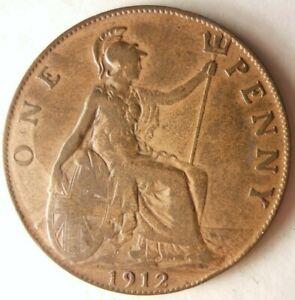 1912-Gran-Bretana-Penny-Coleccion-Moneda-Ganga-Bin-145