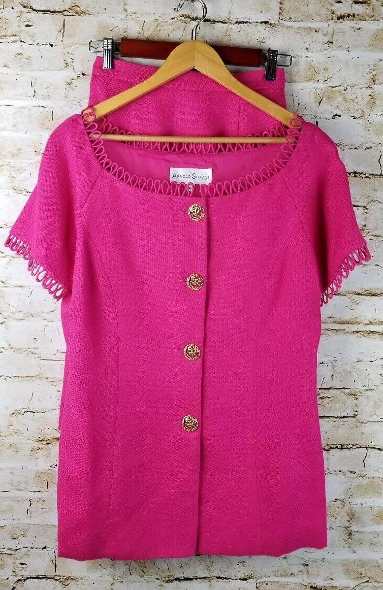Vintage Arnold Scaasi Couture Womens SZ 8 Pink Li… - image 11