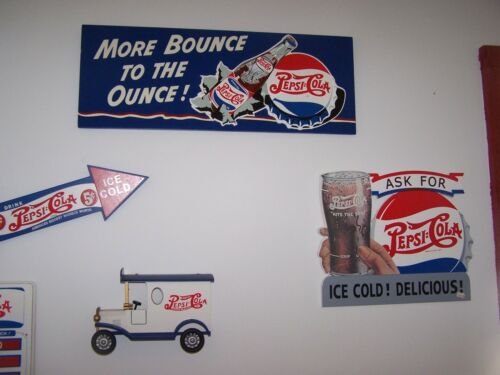 5 DIFFERENT PEPSI COLA SIGN COLLAGE RETIRED CLOSEOUT 3-D LETTERING NEW UNUSED