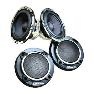 CT Sounds Meso 3.5 Inch Car Audio Midrange 2 x 30w RMS Powerbass Speakers (Pair)