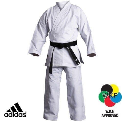 Adidas Elite Karate Gi Anzug Uniform Wkf Herren Damen Erwachsene Weiß K380