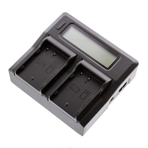 LCD USB Dual//2 Cargador De Batería Para Panasonic Dmw-BLF 19 elumix DMC-GH5 GH4 GH3 EE UU.