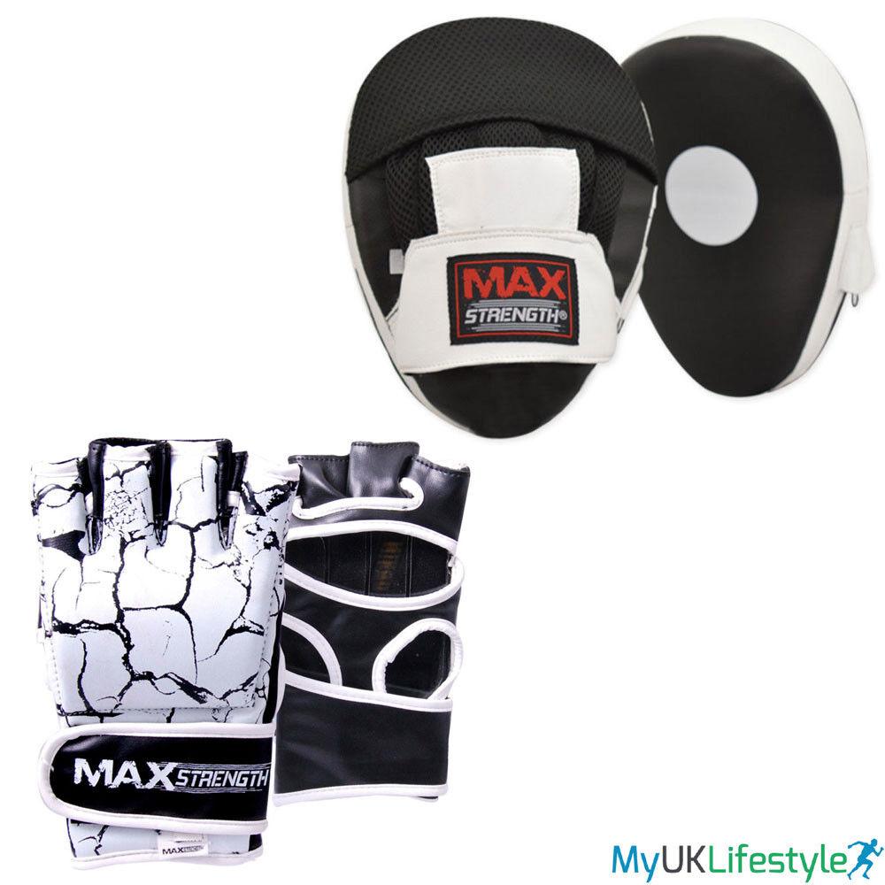 Boxen Tasche Handschuhe Focus Pads Set Kampf Training Schnitt Finger Schlagen