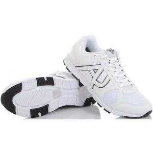 Monochrome White Jeans Runner Trainer Armani Mesh q6BU6