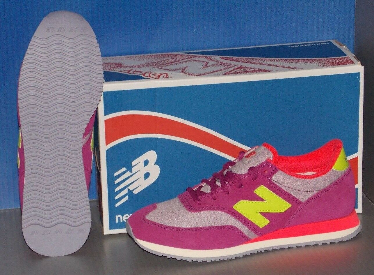 Damenschuhe NEW BALANCE CW 620 MY in colors PINK PURPLE / YELLOW / PINK colors SIZE 8.5 a54442