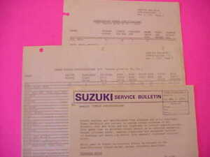 Details about OEM Suzuki Service Bulletin Torque Specifications All Models  up to 1973 Specs-3