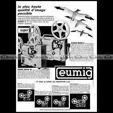 EUMIG MARK M S PROJECTEUR SUPER 8 MM FILM PROJECTOR 1965 Pub Publicité Ad #A1481
