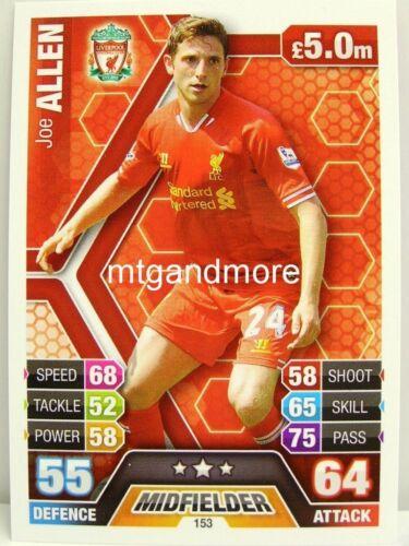 Match ATTAX 2013//14 premier League #153 Joe Allen-Liverpool
