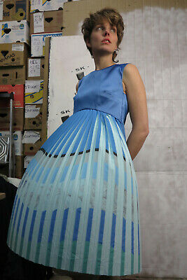 Bene Abito Estivo Donna Vestito Moda Blu 90er True Vintage 90s Dress-mostra Il Titolo Originale Imballaggio Di Marca Nominata
