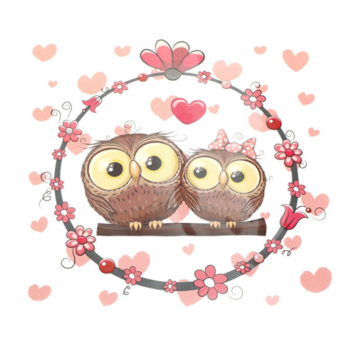 Love owl heat transfer  iron on patches for clothes DIY clothing decor printi Ou