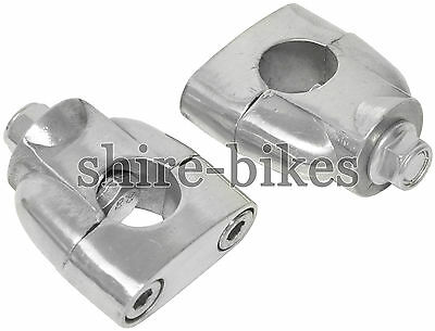 Recessed Handle Bar Riser Risers Mount Mounting Clamps Clamp Motorcycle Bike