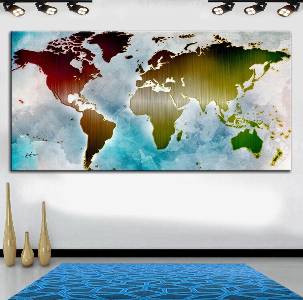 Weltkkunste Abstrakt Deko Wandbilder Bilder auf Leinwand Kunst XXL 2486A