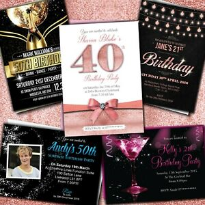 18th-21st-30th-40th-50th-60th-Birthday-Invitations-Personalised-Party-Invites
