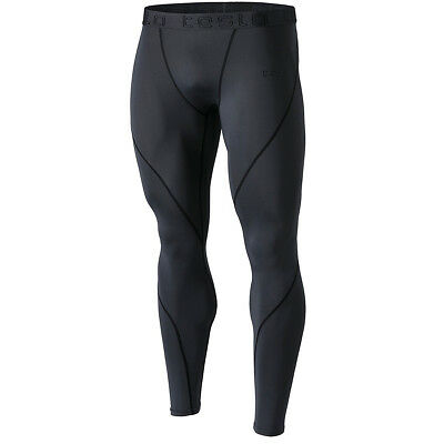 Activewear Charcoal/black Rational Tsla Tesla Mup19 Cool Dry Contour-stitching Compression Pants Clothing, Shoes & Accessories