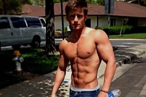 Shirtless Male Beefcake Muscular Hunk Ripped Gym Jock Abs Dude PHOTO 4X6 F794