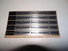 Typenschild für Noris Trumph Halogen 250 Projektor 5 Stück Vintage NOS W229