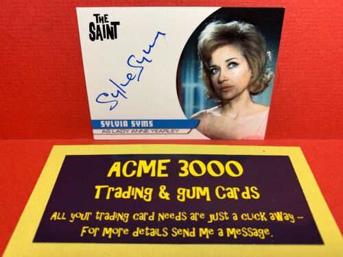 Unstoppable The Saint Series 2 SYLVIA SYMS Yearley Autograph Card SS2 CASE BLUE
