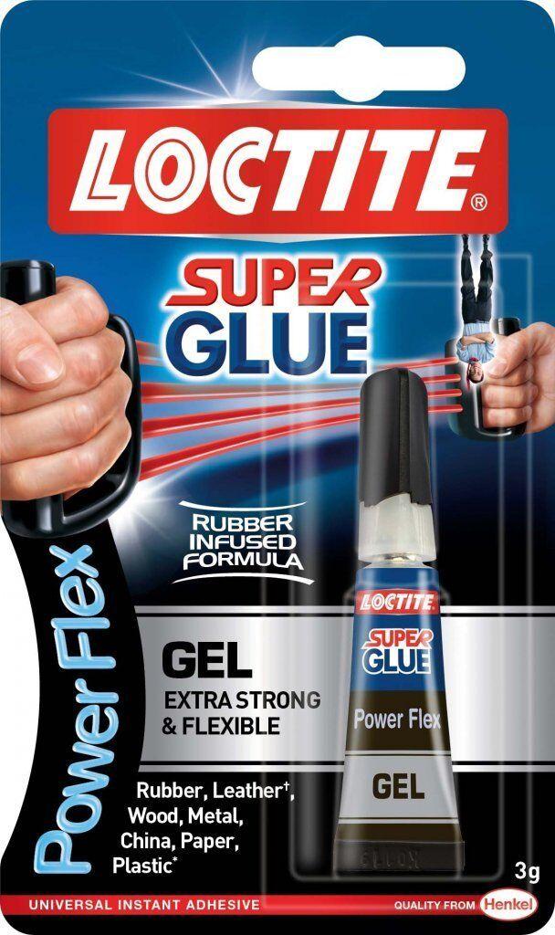 12 x LOCTITE Super Glue Power Flex Gel  Flexible Adhesive 3g TUBE