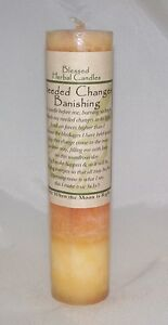 4 Pack Banishing Candle Needed Change Coventry Creations Blessed Herbal candle
