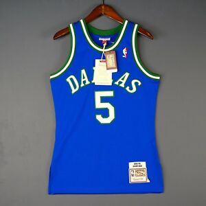on sale 0e1d5 81504 Details about 100% Authentic Jason Kidd Mavericks Mitchell Ness Jersey Size  44 L Large Mens