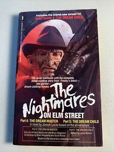 Nightmares-On-Elm-Street-Part-4-amp-5-Joseph-Locke-Paperback-Book-Novelization