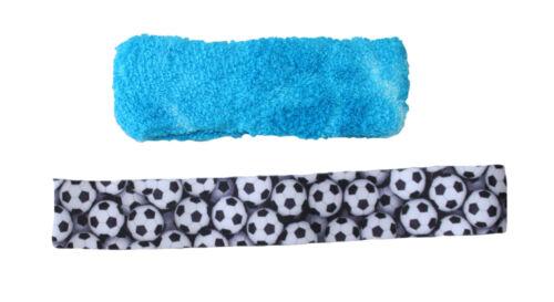 Headband Soccer Balls Black//White Elastic Headband /& Terry Tie-Die 2 Piece Set