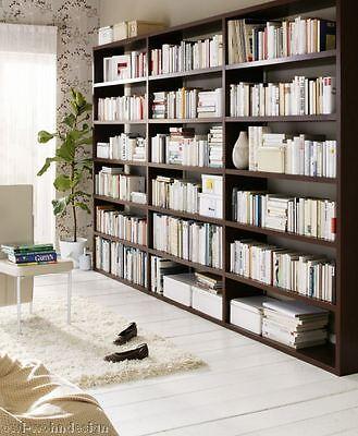 Bücherregal Bücherwand Bibliothek wenge Tara, individuelle Planung nach Maß