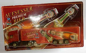 GRELL-HO-1-87-CAMION-SEMI-TRUCK-TRAILER-SCANIA-420-AUFSESSER-PREMIUM-BIER-BEER