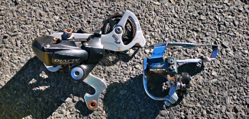 Shimano acera and alivio front and back derailer for sale