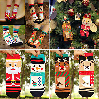 1 Pair Newest Women's Christmas series Cotton Socks XMAS Gift Decor Santa Elk