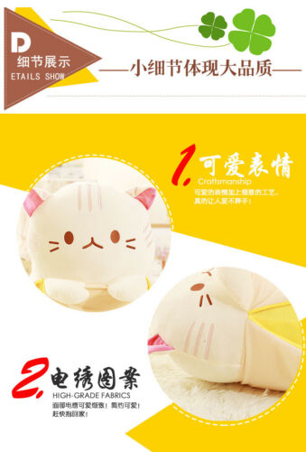 20/'/' Anime Bananya Banana Cat Plush Stuffed Toy Cushion Doll cute kids Birthday*