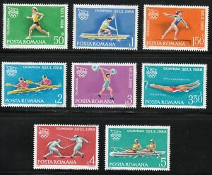 Romania-1988-MNH-Mi-4475-4482-Sc-3525-3532-Seoul-Olympic-Games